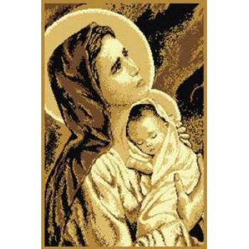 Dywan Makata Matka Boska z Dzieciątkiem beż