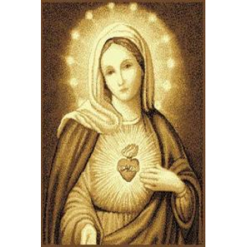 Dywan Makata Serce Matki Boskiej beż
